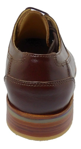 Calzado Zapato De Cuero Fondo De Goma Negra . Art 9040