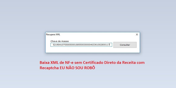 Fontes Baixar Xml Nf-e Sem Certificado Não Sou Robo