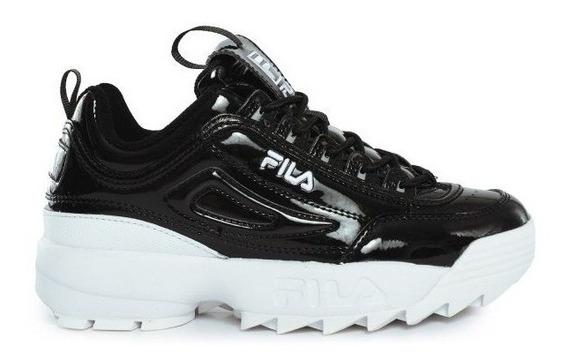 Zapatillas Fila Disruptor 2 Premium Patent Neg De Mujer