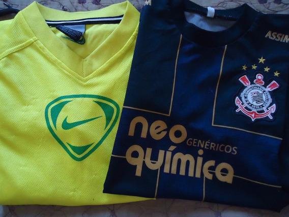 Kit De 2 Camiseta Futebol Infantil 8 A 10 Anos Usado