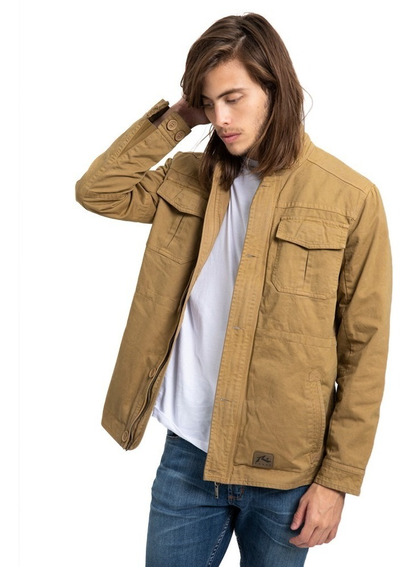 Campera Hombre Rusty Peace Station Beige
