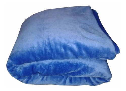 Cobijas Manta Frazada Piel Ángel Térmica Unicolor Azul Bebé