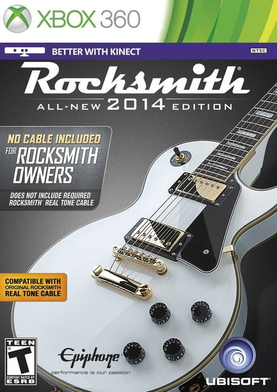 Rocksmith 2014 - Sem Cabo - Midia Fisica Lacrado - Xbox 360
