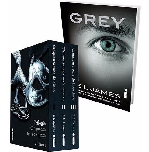 50 Tons De Cinza Box + Olhos De Grey 4 Livros Frete Grátis