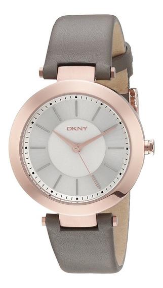 Reloj Dkny Leather Gray Stanhope