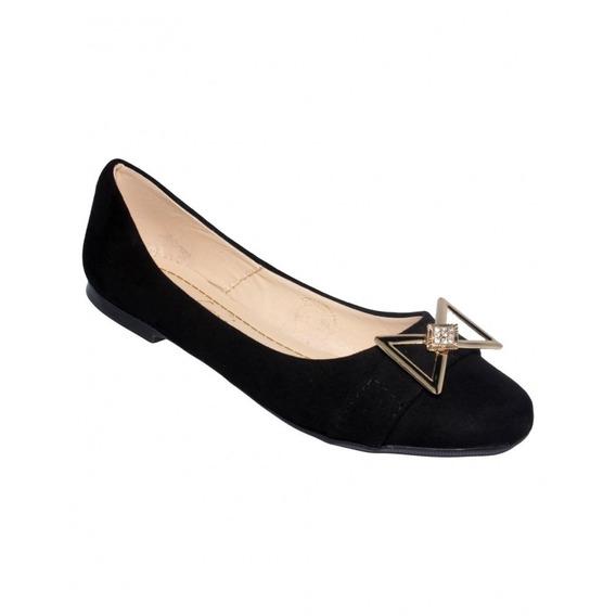 Flats De Moda Durazno Negro-mod.0001du5223982