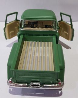 Miniatura Chevy Stepside Pick-up 1955 1/32 Metal Verde