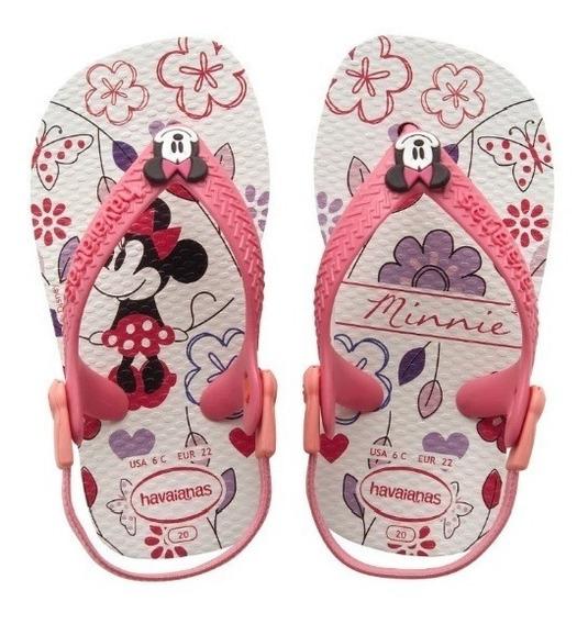 Zonazero Ojotas Havaianas Baby Mickey Minnie Bebes
