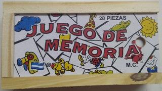 Juego De La Memoria De Madera