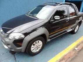 Fiat Strada Adventure Cabine Dupla 1.8 2013 Preta Flex