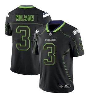 Camiseta Nfl Seattle Seahawks #3 Wilson