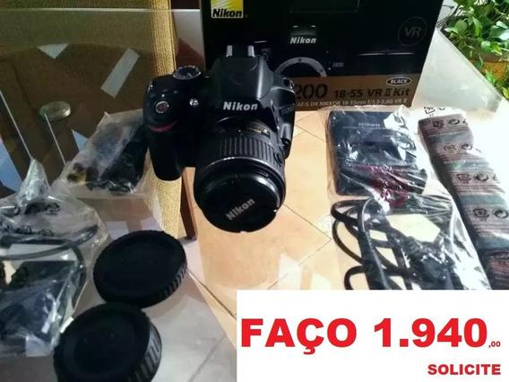 Câmera Nikon D3200 + 2 Lentes - Impecável .nas Caixas .como Novas!