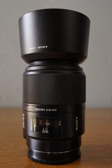 Lente Sony Sal 100 Mm 2.8 Macro Fullframe Ff Af Mount A E