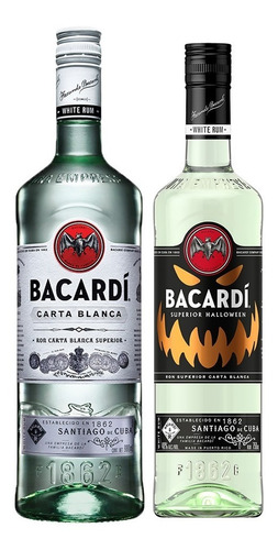 Combo Bacardi + Bacardi Halloween 980 Ml