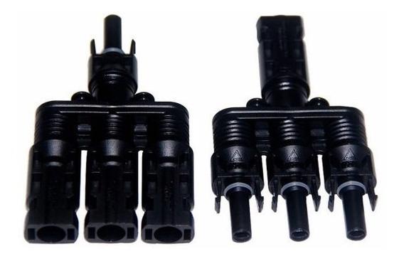Conector Mc4 3x1 Vias Adaptador Painel Solar Mc4 Triplo