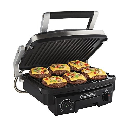 Proctor Silex 5-in-1 Indoor Countertop Grill, Griddle