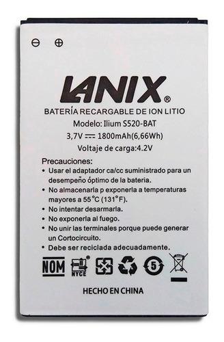 Nueva Bateria Pila Lanix S520 Ilium 1800 Mah Garantia