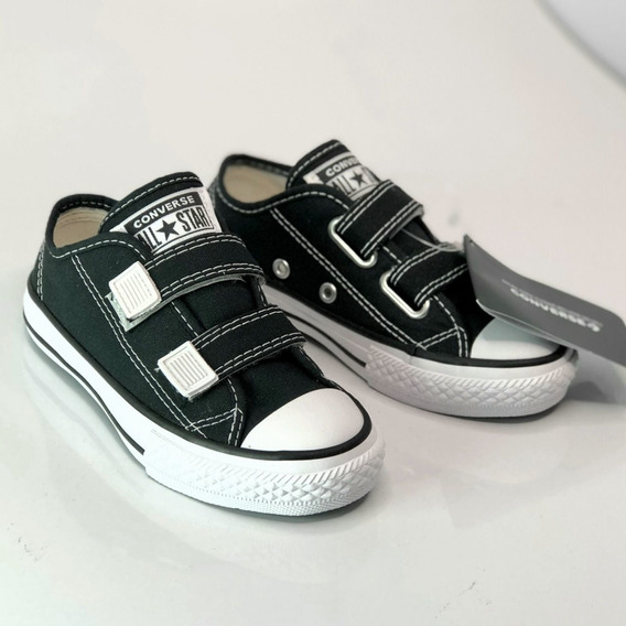 Tênis All Star Preto Escolar Velcro Original