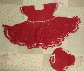 50dd44467 Vestido Infantil Croche 1 Ano - Calçados, Roupas e Bolsas no Mercado ...