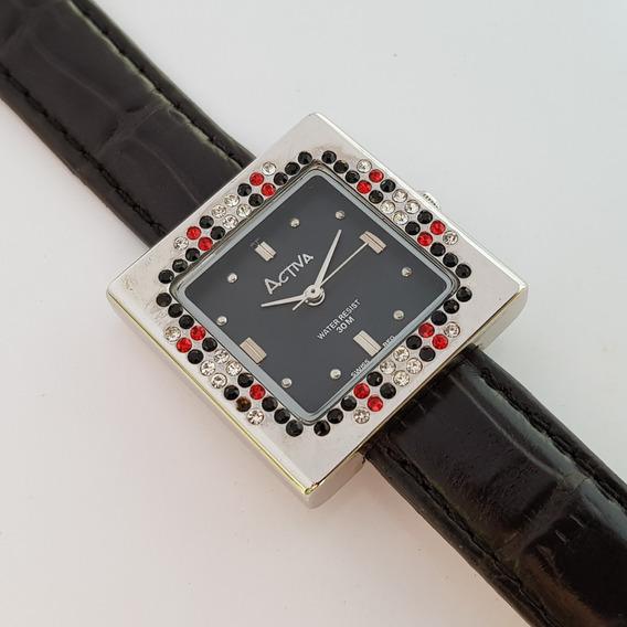 Relógio Feminino Activa Stone Cuadro Black