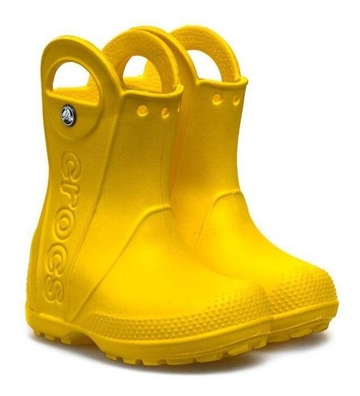 Bota Lluvia Crocs Handle It Rain Kids - Yellow