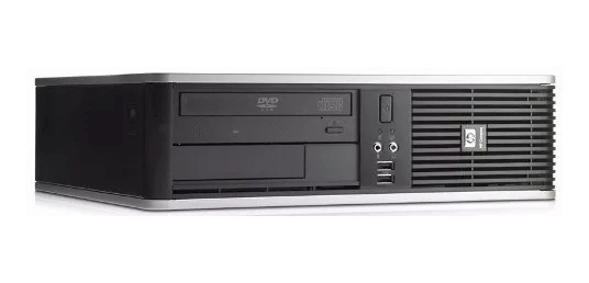 Pc Cpu Desktop Hp, Core 2 Duo, 2 Gb Ram,80gb Hd, Dvd Rom
