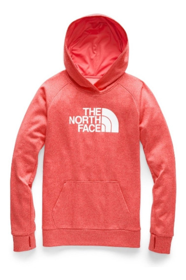 Sudadera The North Face Fave Half Home Coral/blanco Dama