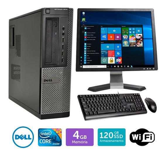 Computador Usado Dell Optiplex 9010int I3 4gb Ssd120 Mon19q
