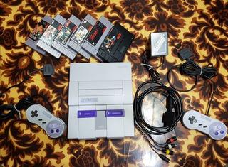 Super Nintendo Completa Original Ntsc Americana + Regalos