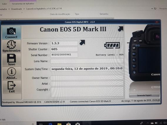 Canon 5d Corpo Apenas 605 Clicks