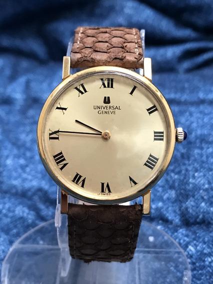 Relogio Nivel Omega Ouro 18k Plaque Universal Geneve Slim 33mm Sem Contar A Coroa Tipo Cartier -13 Anos No Mercado Livre
