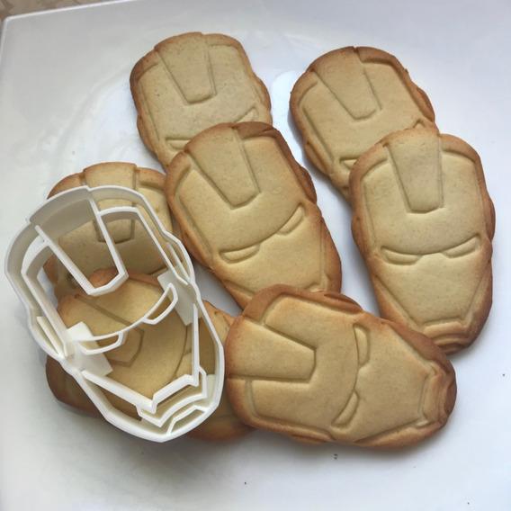 Cortador De Biscoito Biscuí Massa Boneco Homem De Ferro
