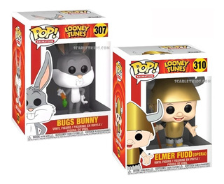 Funko Pop Looney Tunes Bugs Bunny 307 + Elmer Scarlet Kids