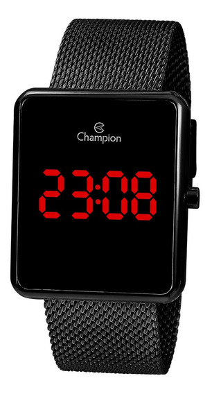 Relógio Champion Feminino Ch40080d Digital, Quadrado, Preto