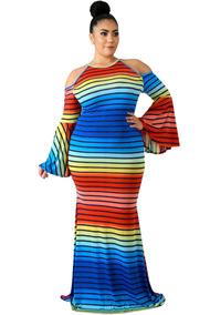 Vestido Curvy Talla Extra Largo Multicolor 610421 22