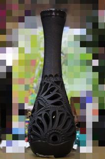 Jarrón Delgado Barro Negro, 24 Cm, Varios Modelos