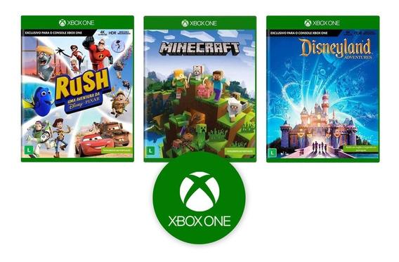 Minecraft + Rush + Disneyland - Xbox One - Novo - Lacrado