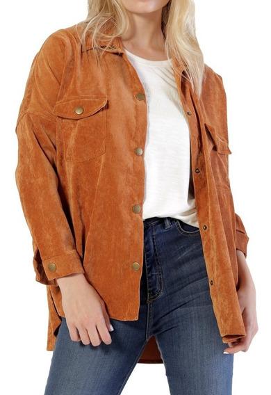Camisa Amplia De Corderoy Moda Mistral Mujer 43601