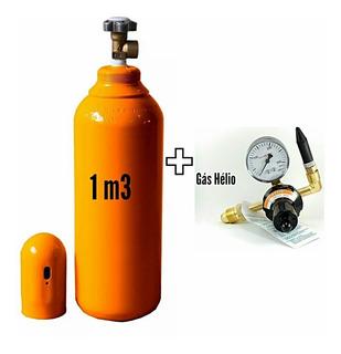 Cilindro Gás Hélio 1m3 7 Lts+válvula De Enchimento