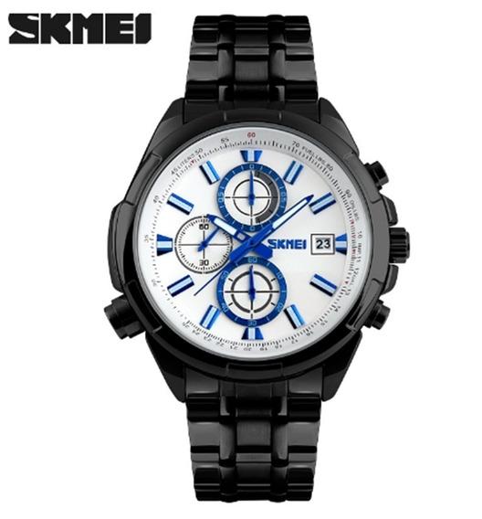 Relógio Masculino Skmei 9107 De Pulso Original Frete Grátis