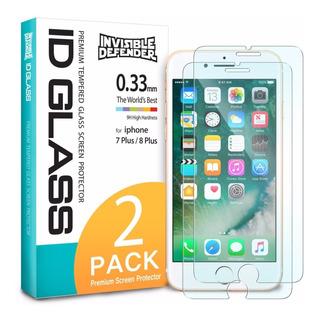 Película De Vidro iPhone 8 Plus / 7 Plus Ringke (2 Unidades)