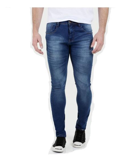 Calça Jeans Com Lycra Stretch Masculina Skinny Plus Size