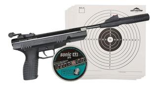Pistola De Pressão Benjamin Bbp77 4.5mm Np Chumbinhos Alvos