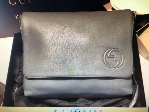 Bolsa Gucci - Legítima - Nova (caixa) - Couro - Cor Cinza
