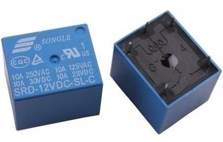 2 Unidades Relê 12v 10a - 5 Terminais Arduino