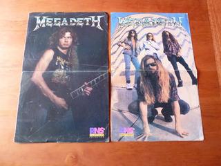 2 Poster Vintage Doble De Megadeth