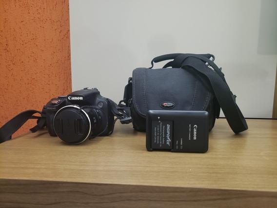Camera Canon Sx50 Hs Com Bateria Extra