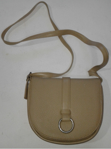 Cartera Marca Xl-cuero,color Beige -estado Excelente
