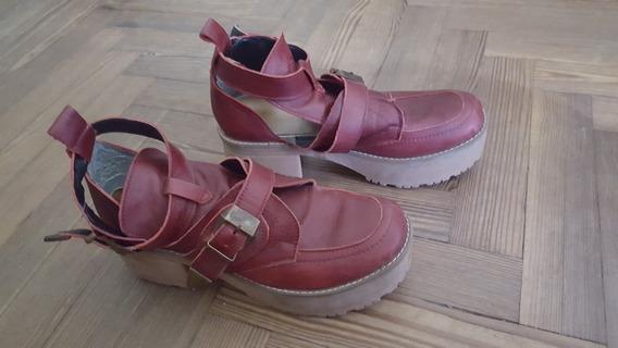 Zapato - Botinetas De Mujer Importado Talle 37 O Talle 5