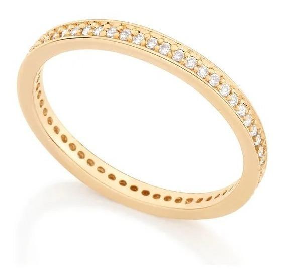 Aparador Aliança Zircônias - Folheado Ouro Rommanel 511880